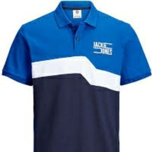 Jack & Jones contrasting color polo shirt